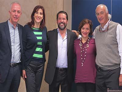 Enrique López de los Ríos, Alzira Moisés, Ricardo Escobar, Martha Certucha y Octavio Mendoza
