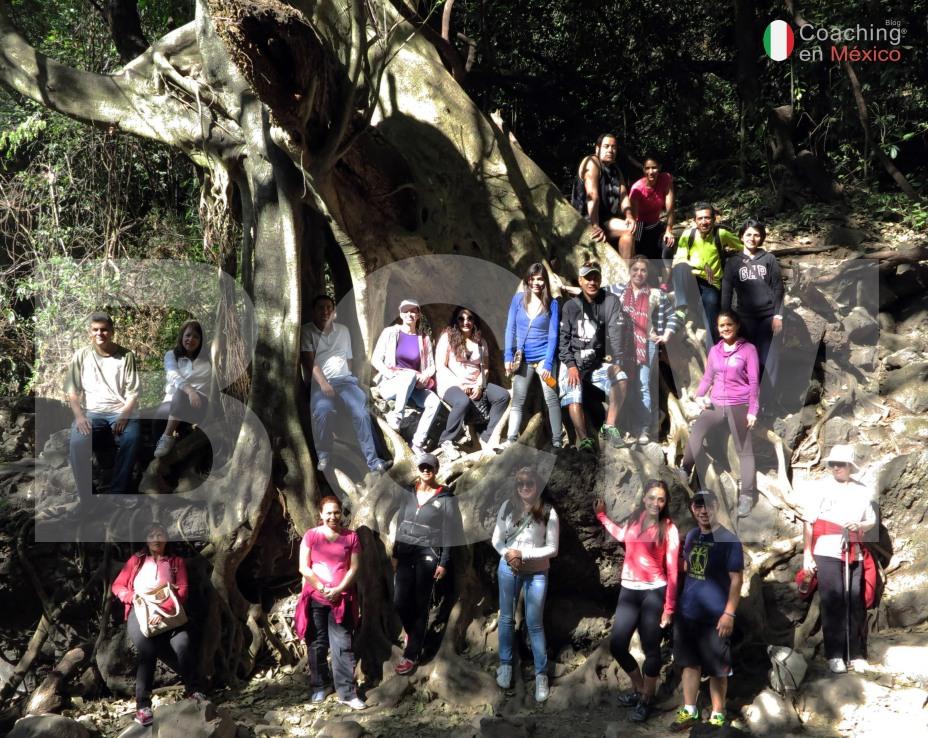 Mauricio Oltra y sus alumnos en el Tepozteco y el Ascenso a la montaña interior.